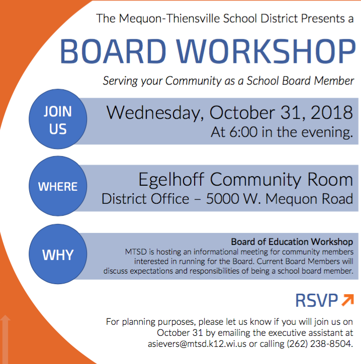 MTSD Board of Education to Host Workshop on Oct. 31