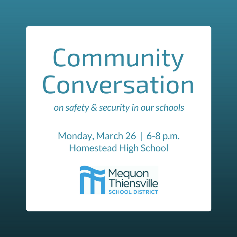 District to Host a Community Conversation on Safety & Security in Our Schools