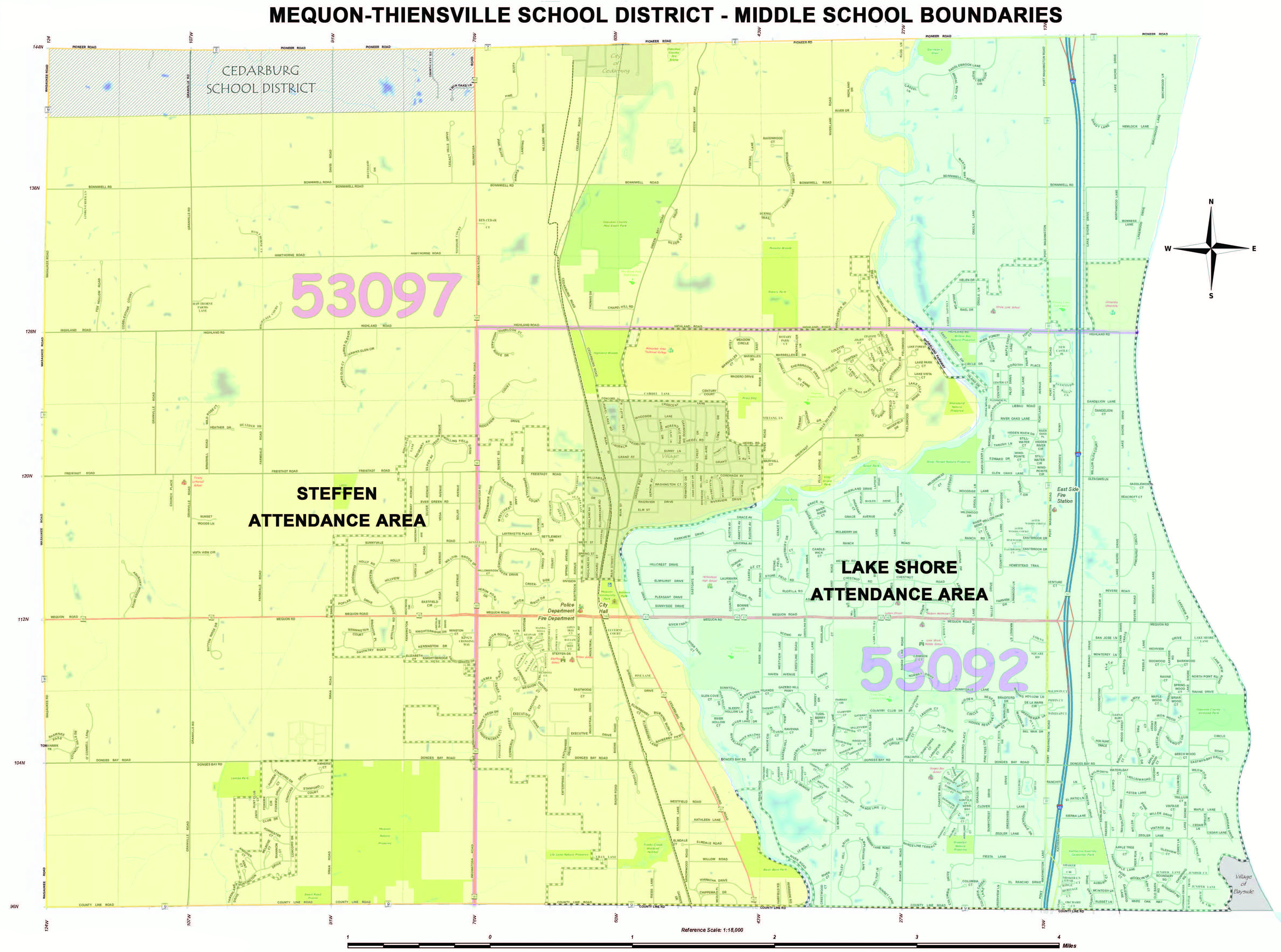 Homestead High School Campus Map.Attendance Maps Mequon Thiensville School District