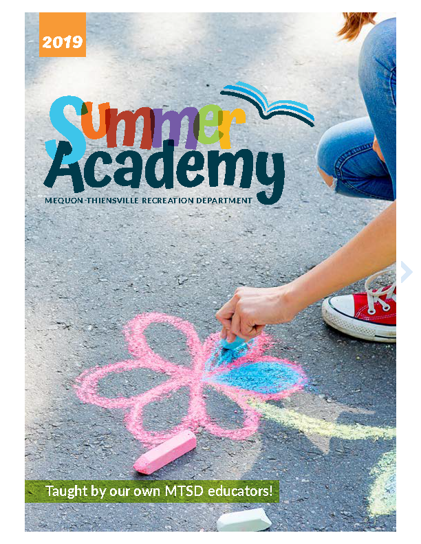 Brochure Cover for Summer Academy with Girl Drawing