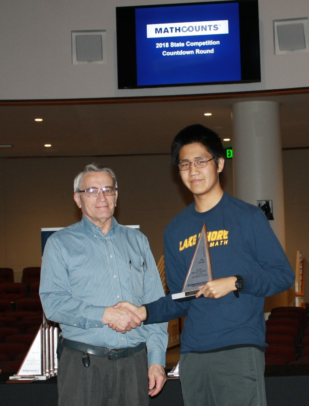 LS 8th Grader Ethan Wang Wins State Mathcounts Competition