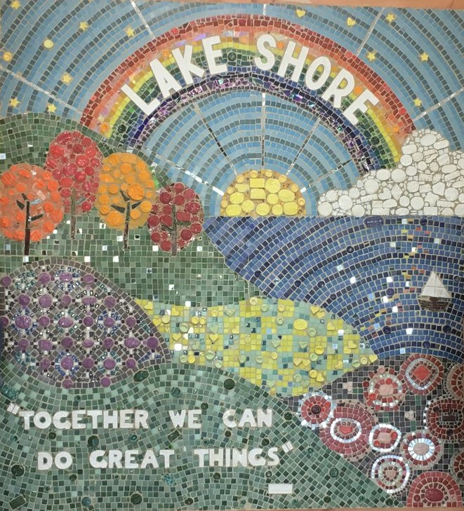 Lake Shore Students Dedicate Mosaic