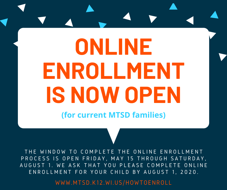 Online Enrollment Window Now Open