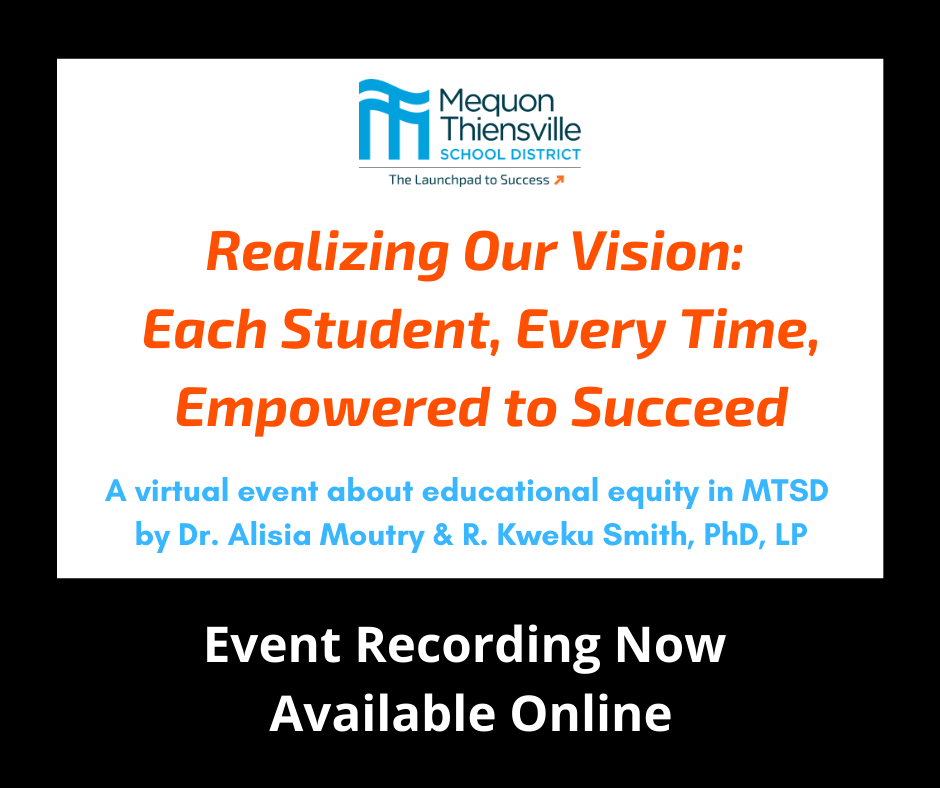 Realizing Our Vision: Each Student, Every Time, Empowered to Succeed - Recording Available