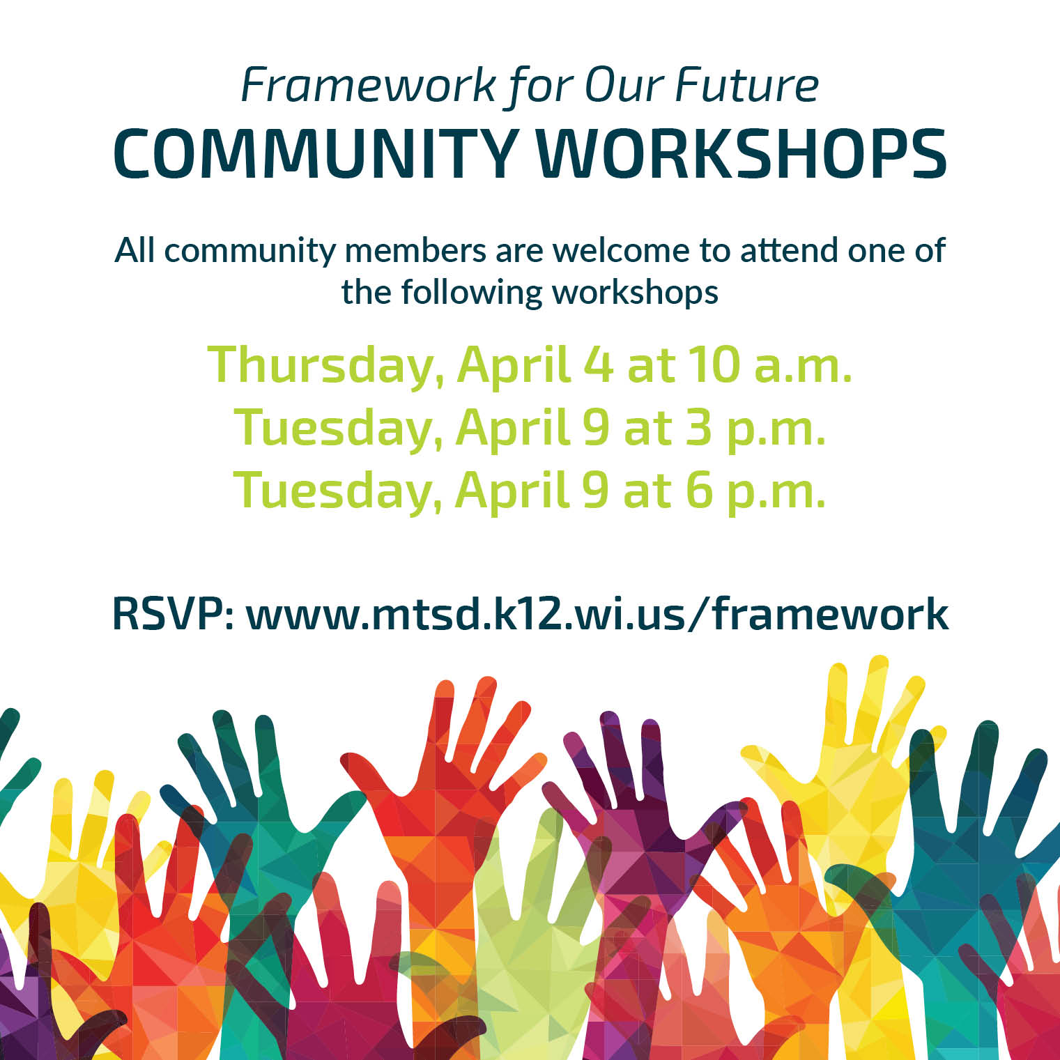 Community Members Invited and Encouraged to Attend Workshop