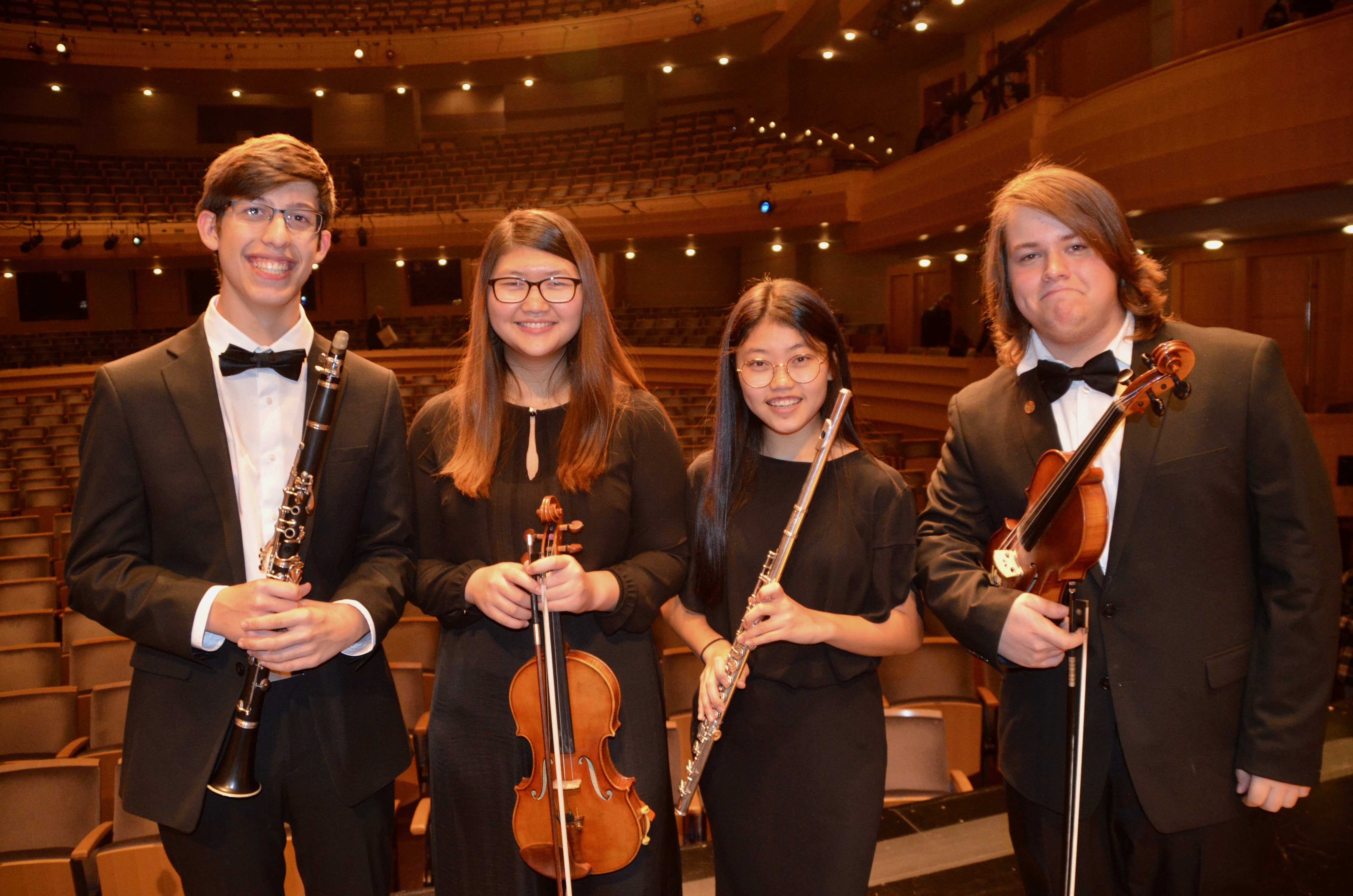 Four Homestead Students Selected for Wisconsin All-State Honors Orchestra and Band