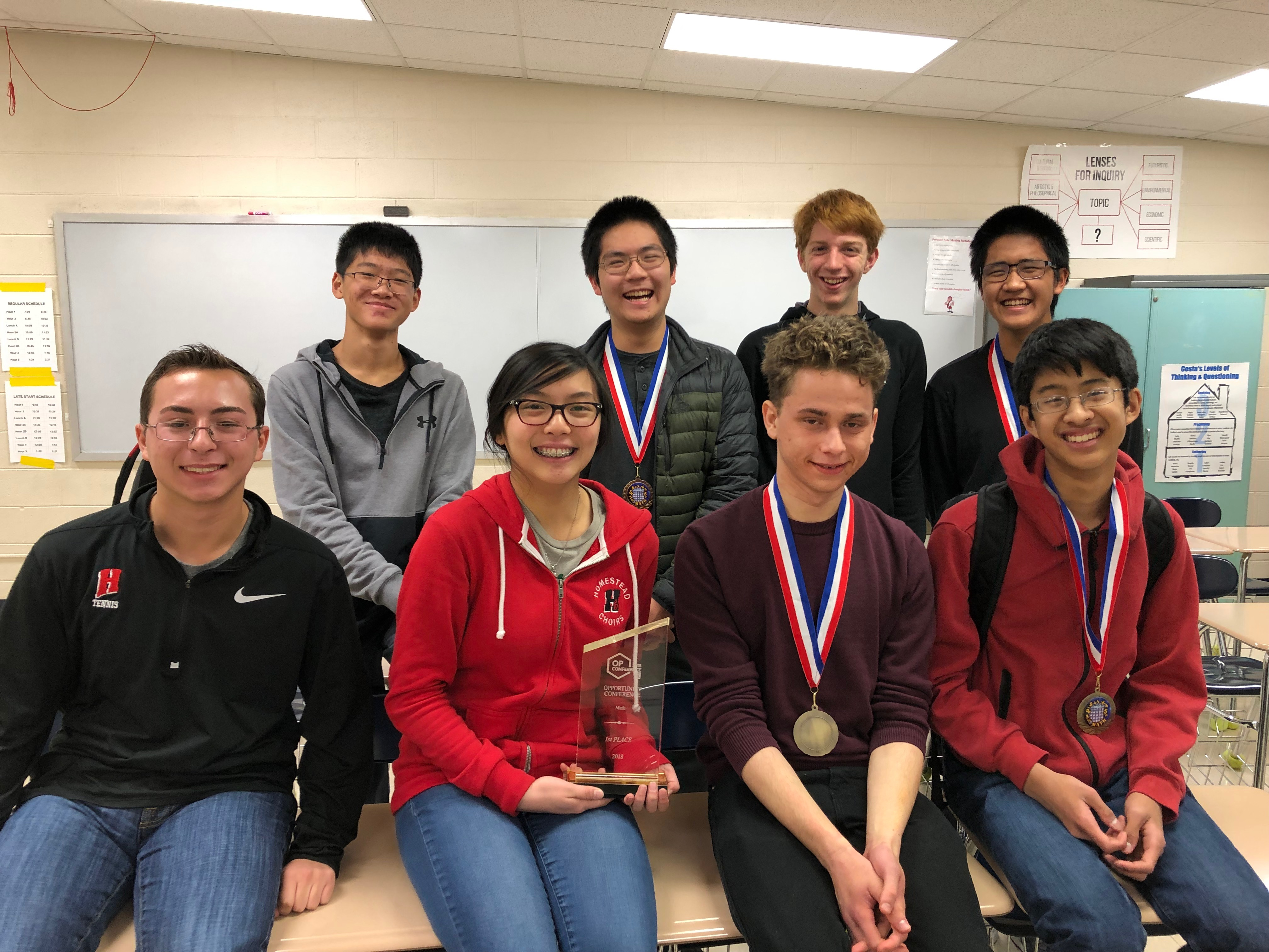 Students place first at MSOE Math Contest